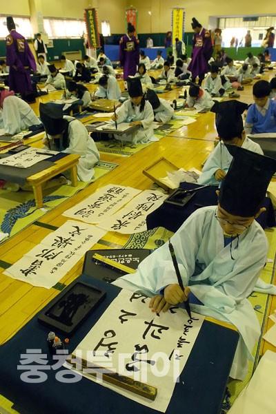 대전 초·중·고 학생 전통과거시험 체험