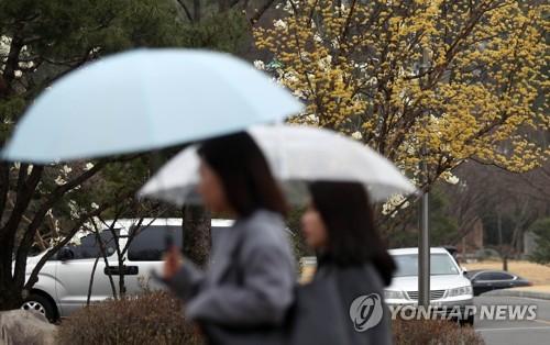 ▲ 봄비 오고 쌀쌀…오후부터 미세먼지 조금씩 걷혀 [연합뉴스 자료사진]