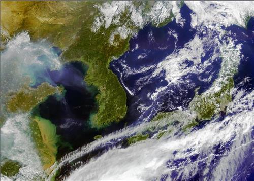 ▲ 작년 9월 한반도 해상 촬영영상 [과학기술정보통신부 제공]
