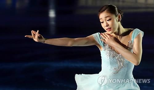 ▲ 2014년 아이스쇼에서 은퇴 기념 연기를 펼치는 김연아.[연합뉴스 자료사진]