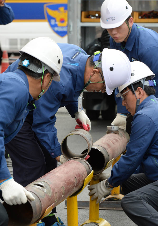 대전, 도시가스 중압배관 파손 대처훈련