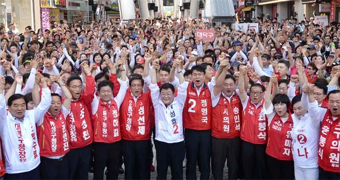 자유한국당, 화력 집중