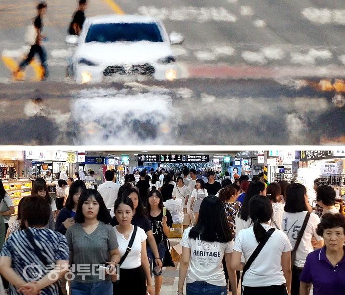 폭염 폭탄에 '헉' 물가 폭풍에 '악' 지쳐가는 국민들