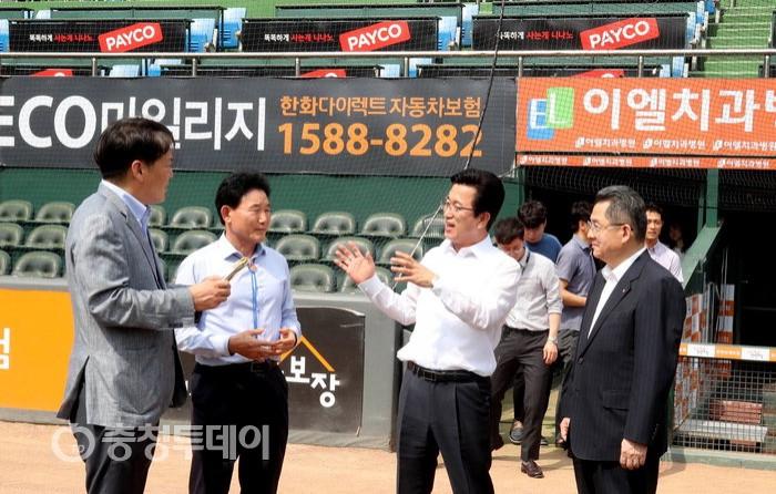 원도심에 대전 새 야구장 건립 문제… 허태정 시장 '워밍업'