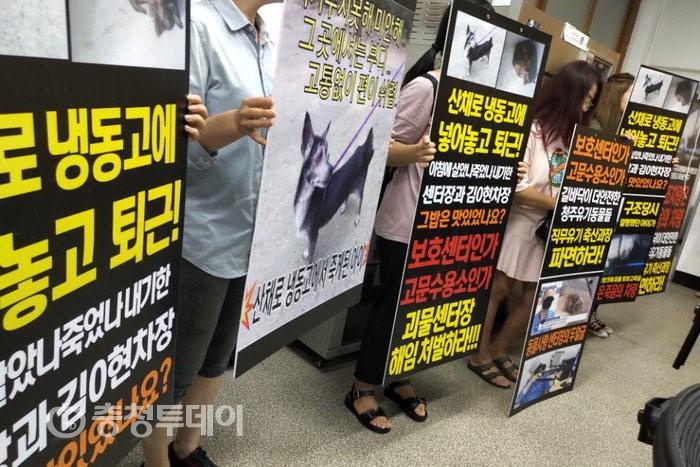 """""""산채로 냉동고에?""""…청주시 반려동물보호센터 학대 의혹"""
