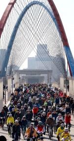 3·1절 자전거대행진 1만여명 태극기 물결… 봄향기 맡으며 질주