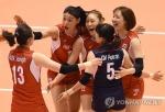 여자배구 한국, 페루 꺾고 4연승…리우행 확실시