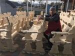 노근리평화공원 쉼터용 의자 '재능기부'