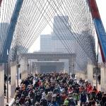 1만 5000여 자전거 물결로 태극기 대함성