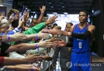NBA 웨스트브룩, 역대 최다득점 트리플더블…57점-13R-11A