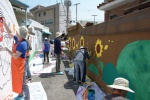법사랑위원 대전지역연합회 뒷골목 벽화그리기 행사