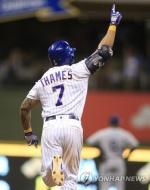 테임즈, 3일 연속 홈런…이번엔 연장 끝내기 홈런