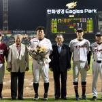 한화 김태균, 한·미·일 통산 86경기 특별 시상
