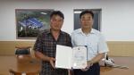 충북소주 조성호 대표 농림부 장관표창 수상