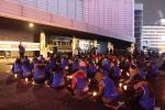 [르포] 리베라호텔 앞 '촛불문화제' 불꺼진 직장… '눈물'로 켠 촛불