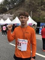 """하프코스 남자 1위 김성원 """"건강 지키고 우승도 하고"""""""