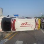 119구급차 구급출동 중 교통사고로 3명 부상