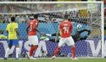 월드컵 '삼바 축구' 브라질, 스위스와 1-1 무승부