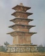 백제식 석탑의 대표작 익산왕궁리오층석탑