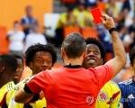 -월드컵- 콜롬비아 산체스, 대회 1호 퇴장…일본에 PK 허용