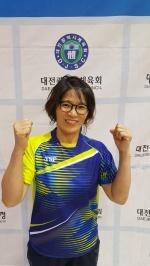 """여자단식 1~2부 전병희 """"직장 스트레스 탁구로 풀어"""""""