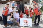 한국타이어 동그라미봉사단, 보훈대상 독거노인 냉방용품 전달