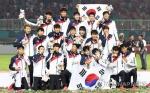 AG 축구 2연패 달성 김학범호, 금메달 안고 귀국