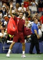 페더러, 세계 랭킹 55위 밀먼에 져 US오픈 16강서 탈락(종합)