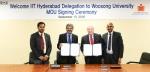 우송대 미래기술학부, 인도 IIT 하이드라바드 대학과 교육협력 협약체결