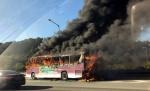 추석 귀경길 고속도로서 차 화재 잇따라…정체 가중