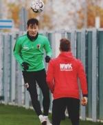 '골 세리머니 부상' 지동원, 두 달 만에 팀 훈련 복귀