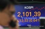 코스피, 무역협상 기대에 상승…2,100선 '터치'(종합2보)