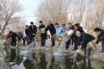 금산군 생태보호 토종 민물고기 치어 방류