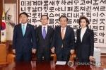 문의장-여야 3당 원내대표 정례회동…1월 임시국회 논의