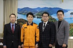 유일상·하순태·김대순 제천시의원 전문 의용소방대 명예퇴임