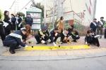 천안시, 등굣길 교통안전 '노란발자국' 캠페인