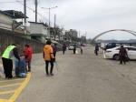영동군보건소, 걷기팀 28명과 영동읍 하상주차장 거리청소