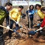 대전 동구, 식목일 용운동 성동산 일원 나무심기 행사