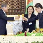 """文 """"투르크메니스탄 에너지 사업에 한국기업 참여 확대"""""""