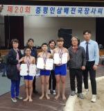 진천삼수초, 전국장사씨름대회 3개 체급 메달